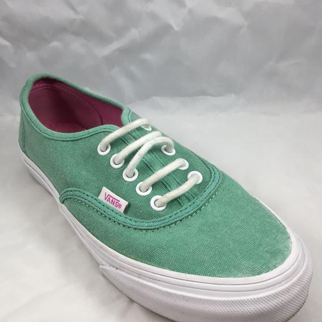 1fcd7766c6 Find more Unworn - Mint Green Vans With Pink Soles Size 7 for sale ...