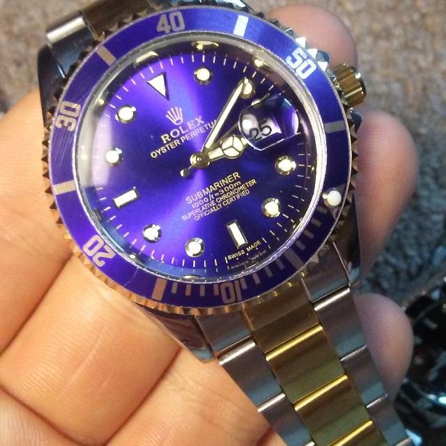 Rolex Watch Submariner Blue Gold Silver