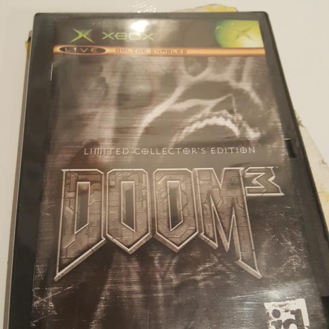 Doom 3 limited collectors edition og XBOX game