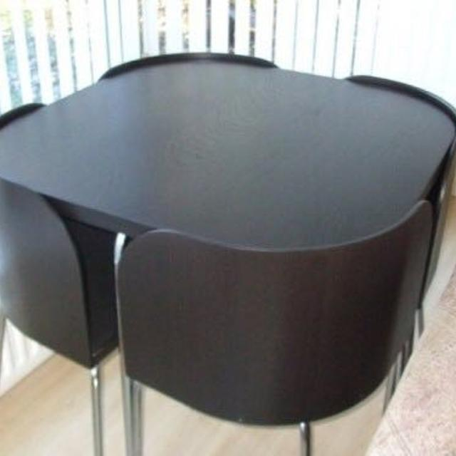 Best ikea fusion table and chairs brown black chrome for Table de fusion ikea