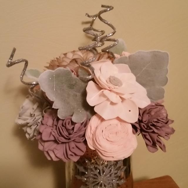 Find more Handcrafted Christmas Sola Wood Flower Bouquet for sale at ...