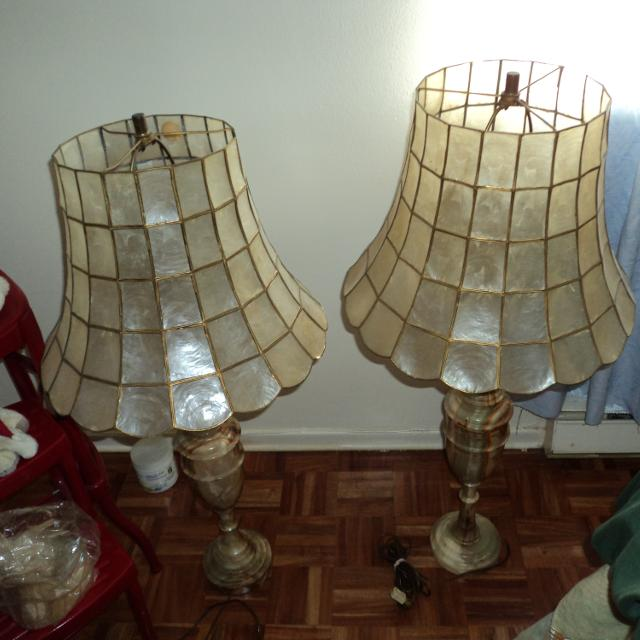 Best Set Of Vintage Marble Leviton Lamps. for sale in The Beaches ...