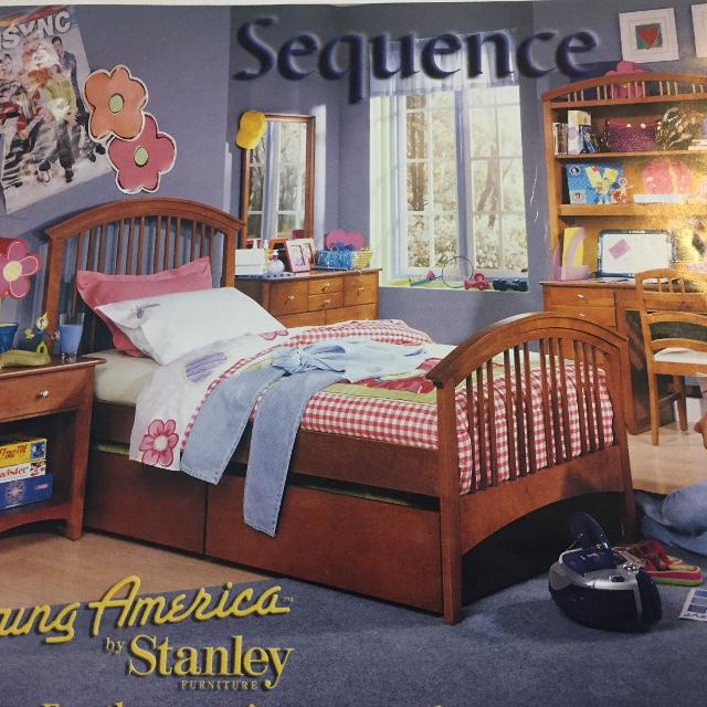 Young America By Stanley Twin Bed With 2 Storage Drawers