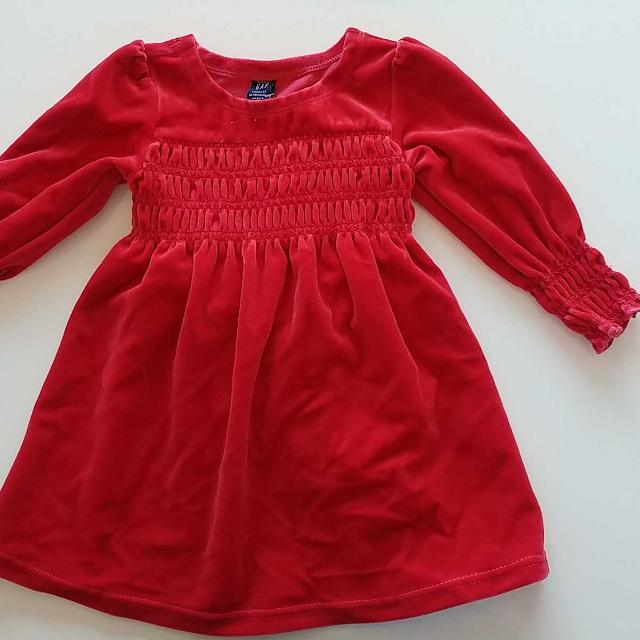44317521b3f6 Find more New Red Velour Christmas Holiday Dress Set By Baby Gap ...