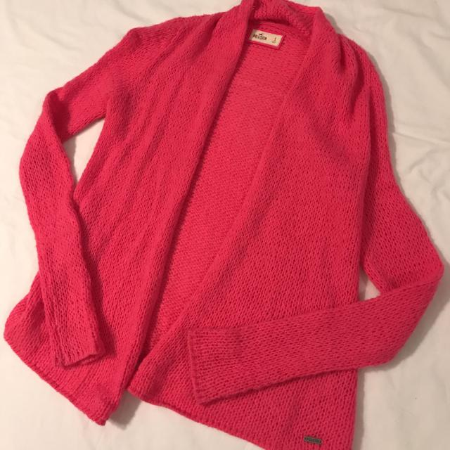 Find More Hollister Hot Pink Open Knit Cardigan Sweater Sz S For