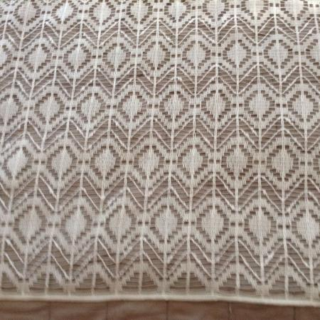 Crocheted Lace Curtain Fabric, used for sale  Canada