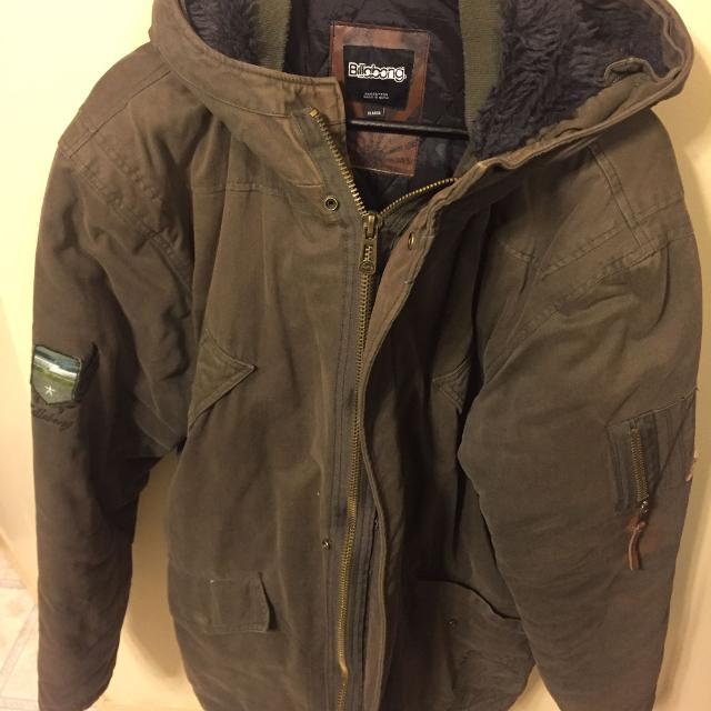 Best Billabong Military Style Winter Coat Xl for sale in Calgary ... 02e5eeae501e
