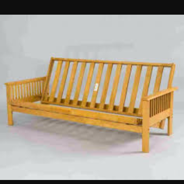 Pine Futon Frame Only Queen Size