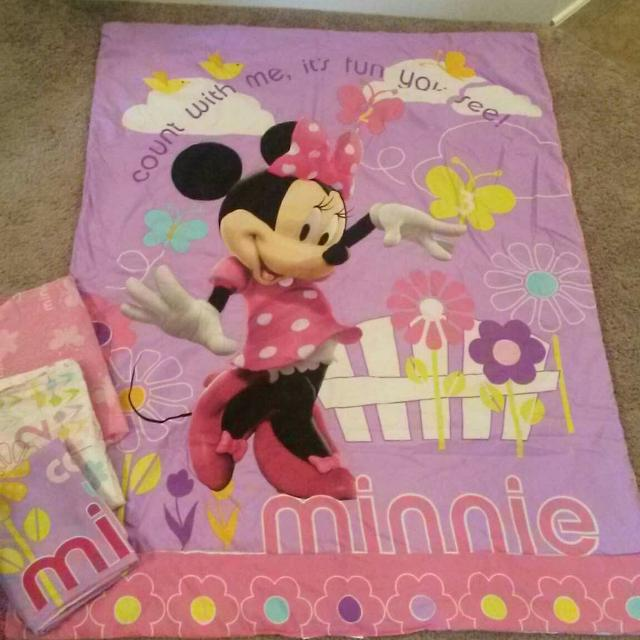 Find More Disney Minnie Mouse 4 Piece Toddler Bed Set Vvguc No