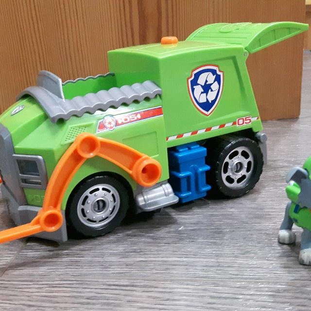 find more paw patrol rocky and recycling truck not the small one
