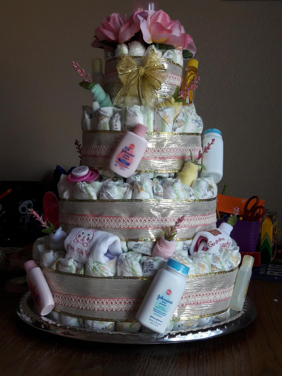 Baby Shower Gift Baskets Diaper Cakes