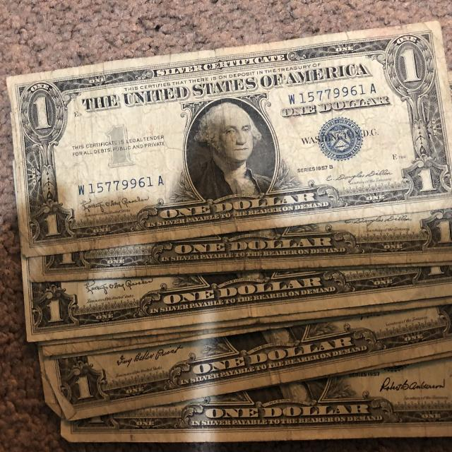 Find More 10 1957 One Dollar Silver Certificates For Sale At Up To