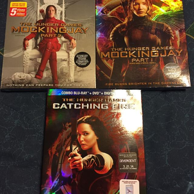 3 Hunger Games Blu-Ray Movies