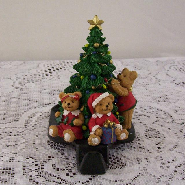 heavy metal teddy bearschristmas tree christmas stocking hanger - Heavy Metal Christmas Decorations