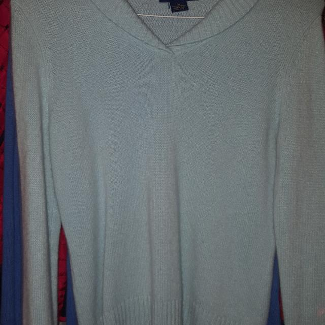 Best Charter Club Light Blue Cashmere Sweater Size M For Sale In