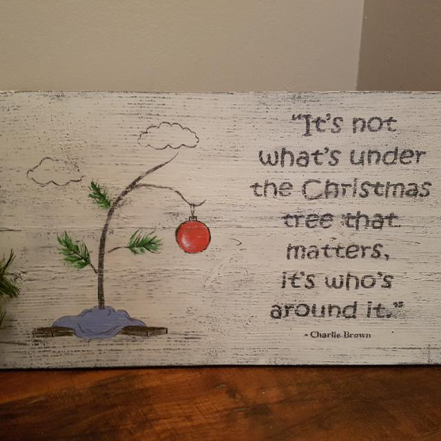 Charlie Brown Christmas Tree Quote.Cute Charlie Brown Christmas Quote On Wood