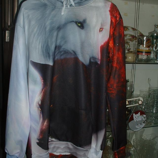 Find More Yin Yang Fire Ice Wolves Hoodie For Sale At Up To 90 Off