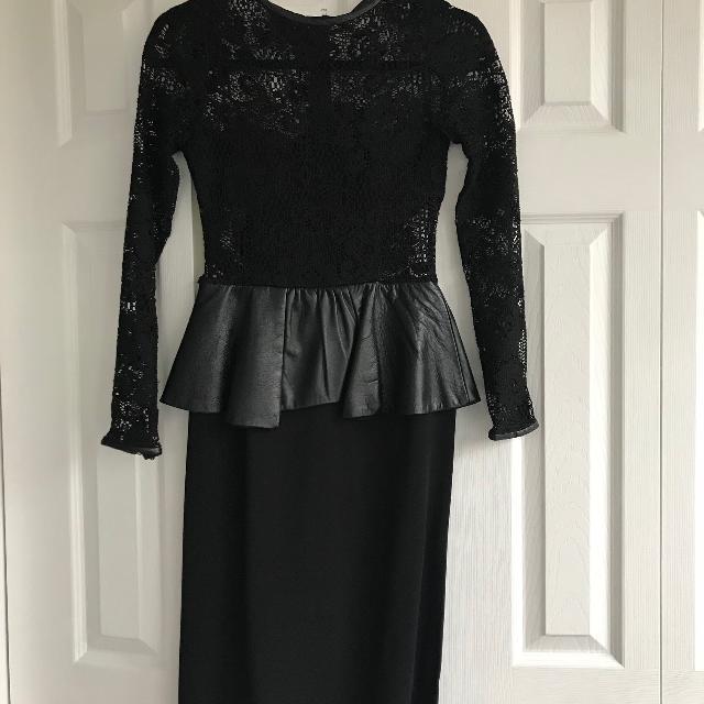 Best Black Lace Peplum Zara Dress For Sale In Brockton Village