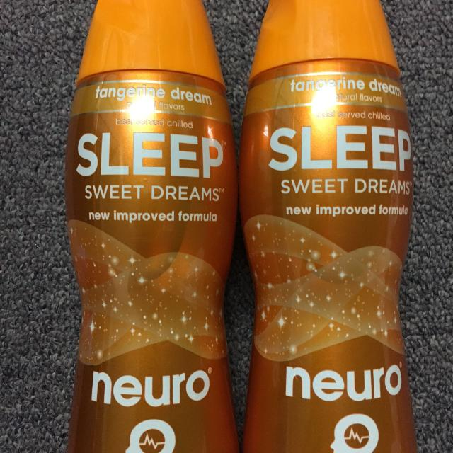 2 Bottles of Neuro Sleep tangerine dream flavor