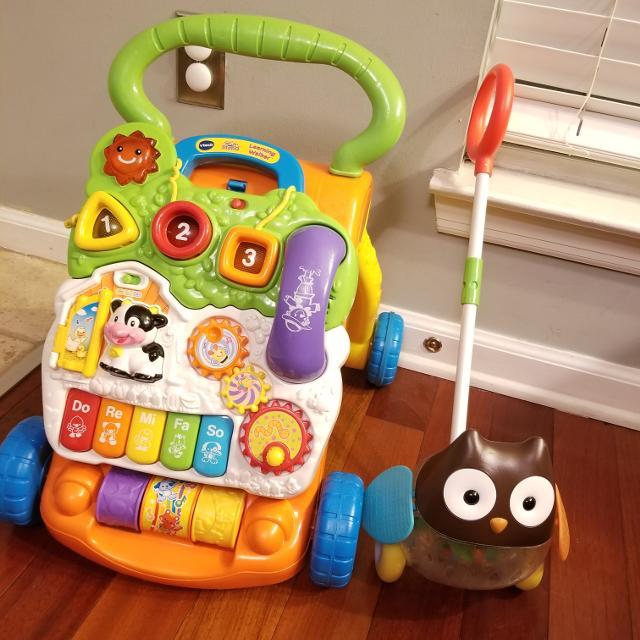 Best Vtech Sit To Stand Learning Walker Skip Hop Rolling Owl Push