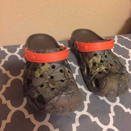9ba26f3907c62 Boys camo crocs size 2 great condition. The print of off some on the toes