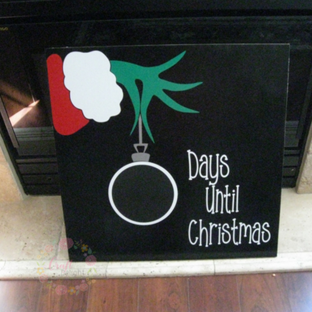Countdown To Christmas Sign.Countdown To Christmas Grinch Sign