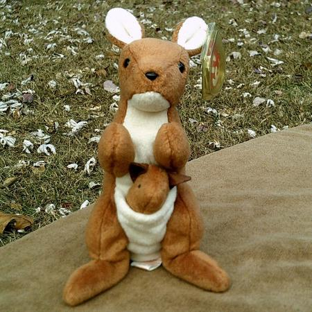 7806b05451a RETIRED RARE Ty Beanie Baby 1996 Pouch Style 4161 With 3 Errors