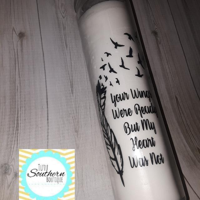 Best Your Wings Were Ready Quote Candle Brand New Giftable For