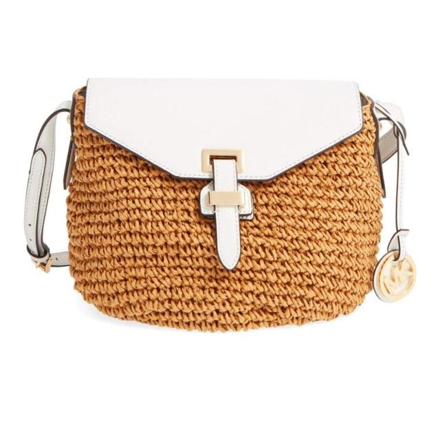 29f125004543 Find more Authentic Michael Kors 'medium Naomi' Straw And Leather ...