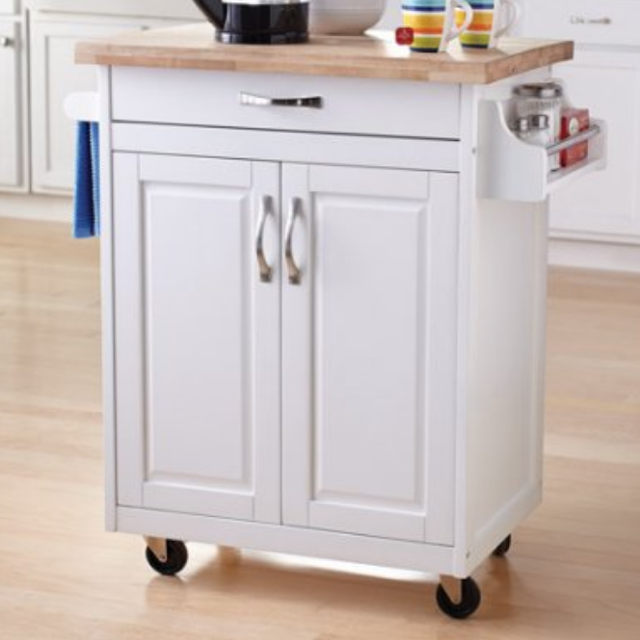 New • Mainstay Mobile Kitchen island w/ cutting board.