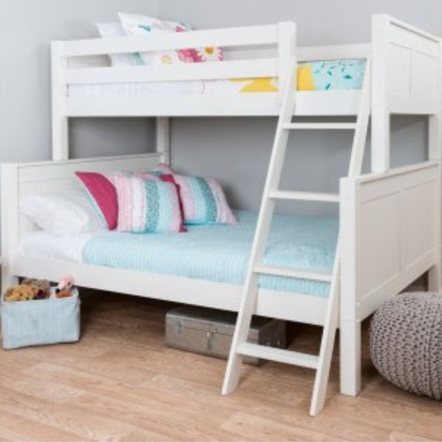 New Twin Over Full Wood Convertible Bunk Bed Frame