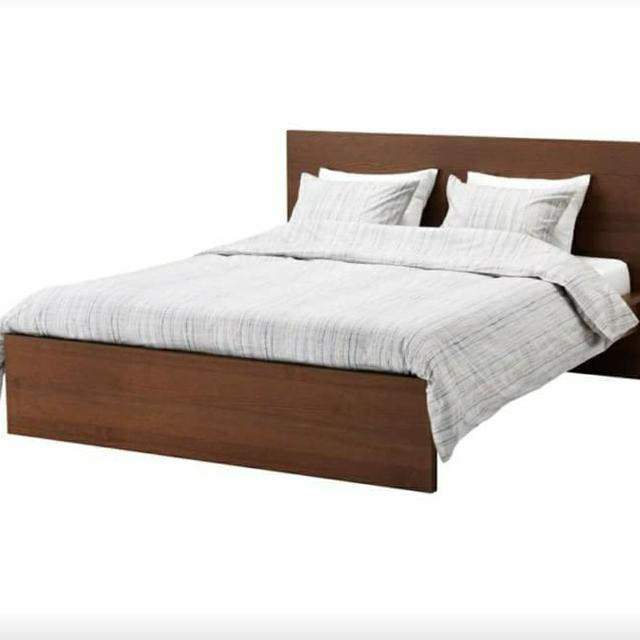 Find More King Brown Malm Bed Frame From Ikea For Sale At Up To 90 Off