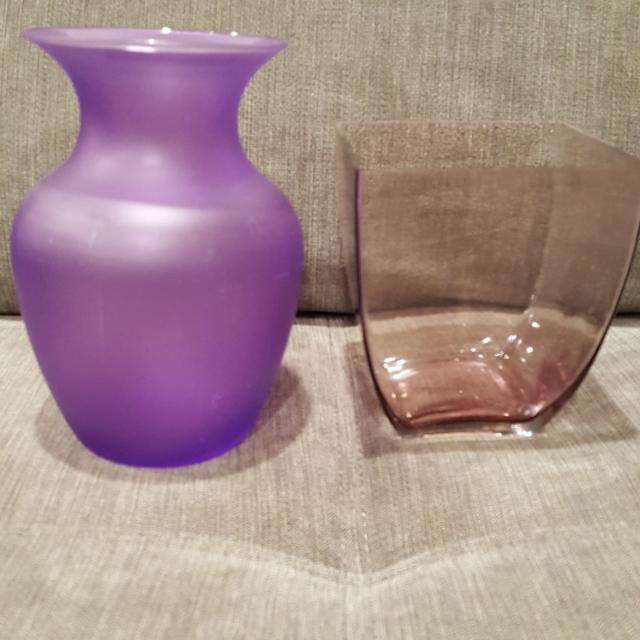 Find More Two Glass Purple Vases For Sale At Up To 90 Off