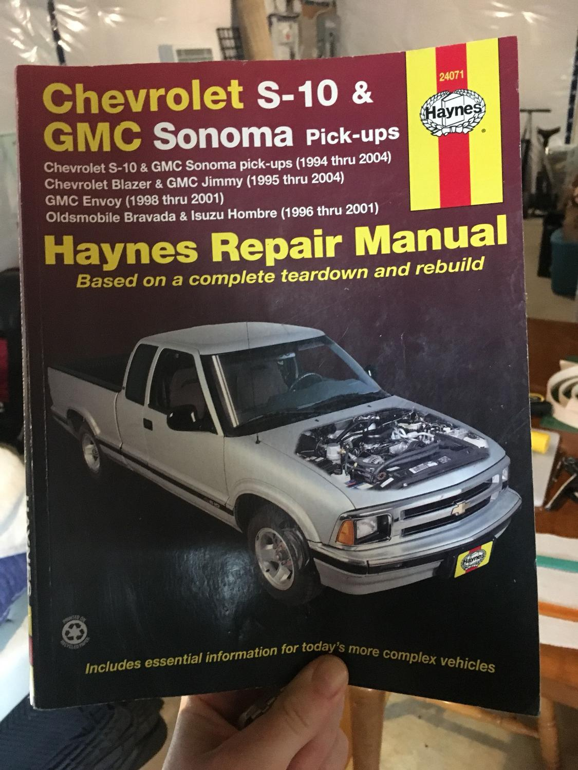Best Chevy S-10 And Gmc Sonoma Repair Manual for sale in Winnipeg, Manitoba  for 2018
