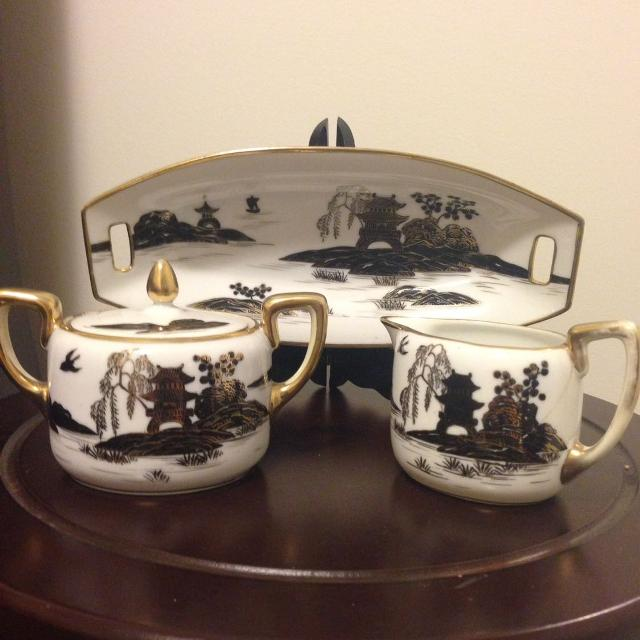 Find more Antique Nippon China Wand Painted Tea Set Final Price! for ...
