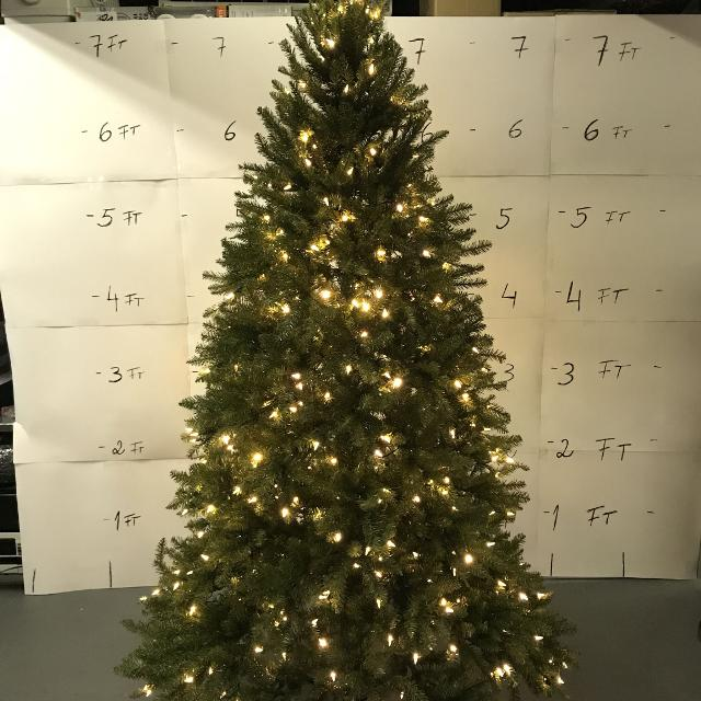 7 5 Ft Pre Lit Led Matthew Fir Artificial Christmas With 2411 Tips And 450 Color Changing Lights With Remote Control