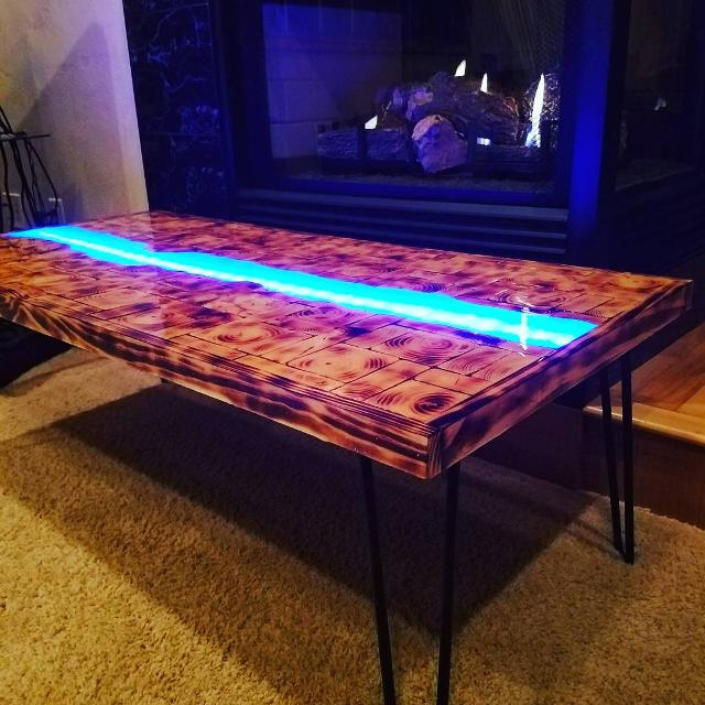 Epoxy Driftwood Table: Best Epoxy River Table For Sale In Appleton, Wisconsin For