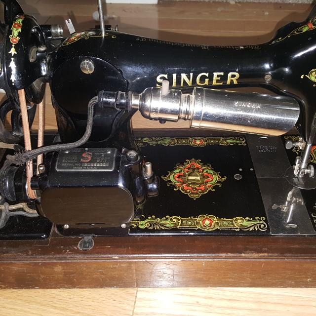 Best 40 Singer Sewing Machine With La Vencedora Decals For Sale In Adorable 1910 Singer Sewing Machine For Sale
