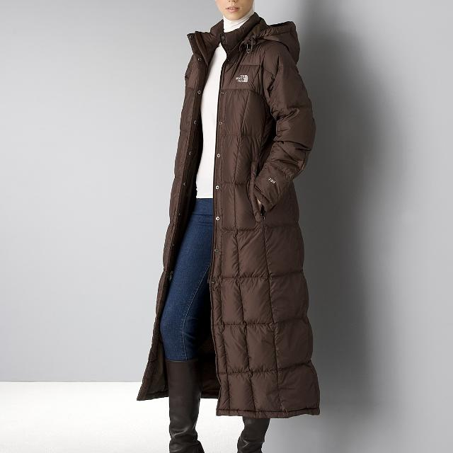 7321b10cf The North Face Women's Triple C Long Hooded Down Coat Brown