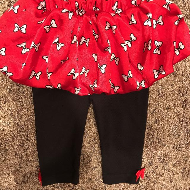 1ad462dfe Disney Baby Red Puffy Minnie Mouse Skirt And Attached Pants. Size 6-9 Months