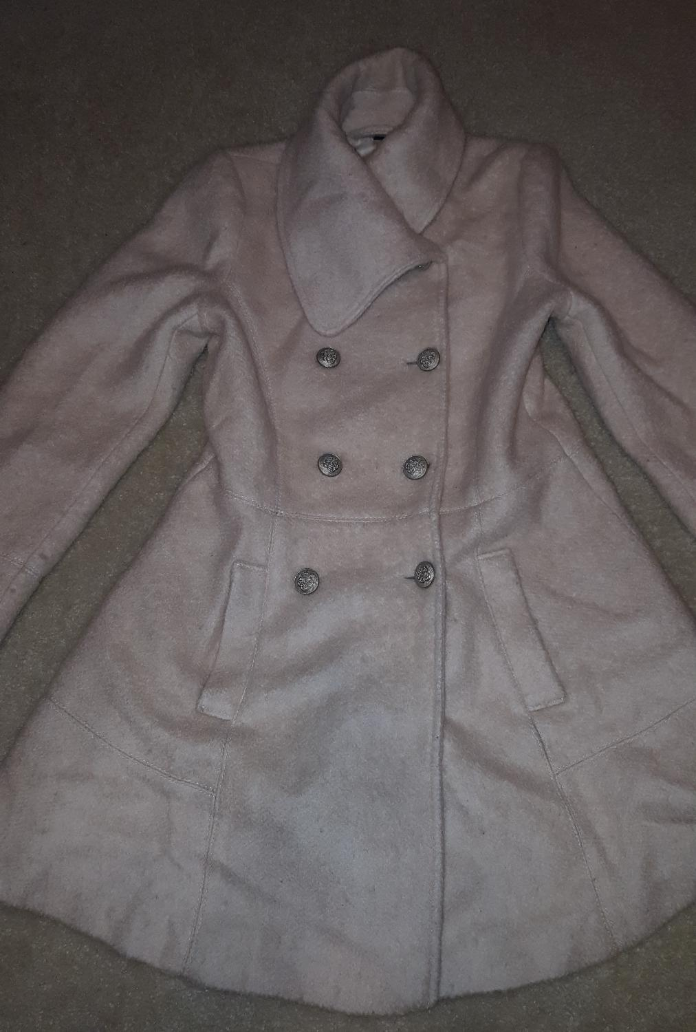 4f16ec4cb Reduced - Guess Wool Boucle Military Flare Coat