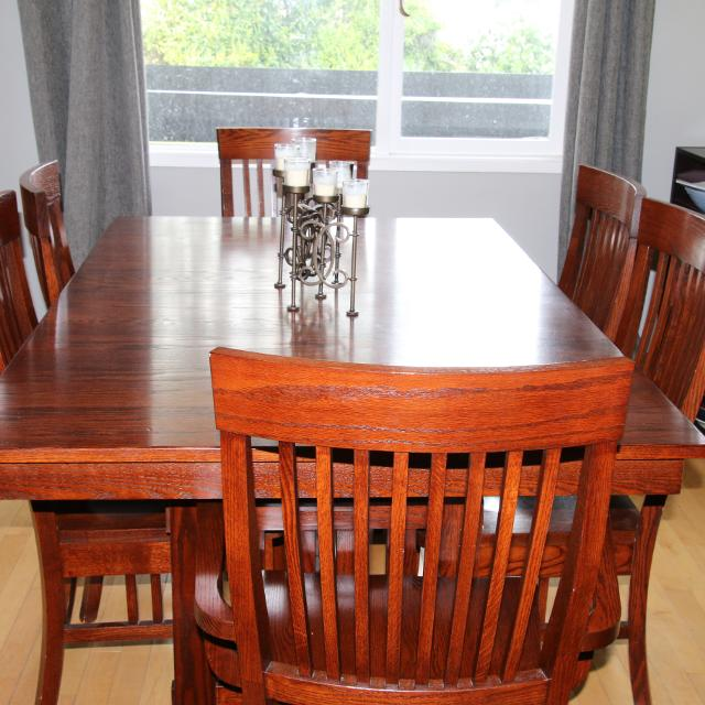 Best Solid Mission Style Dining Table Chairs And Hutch For Sale In Victoria British Columbia 2019