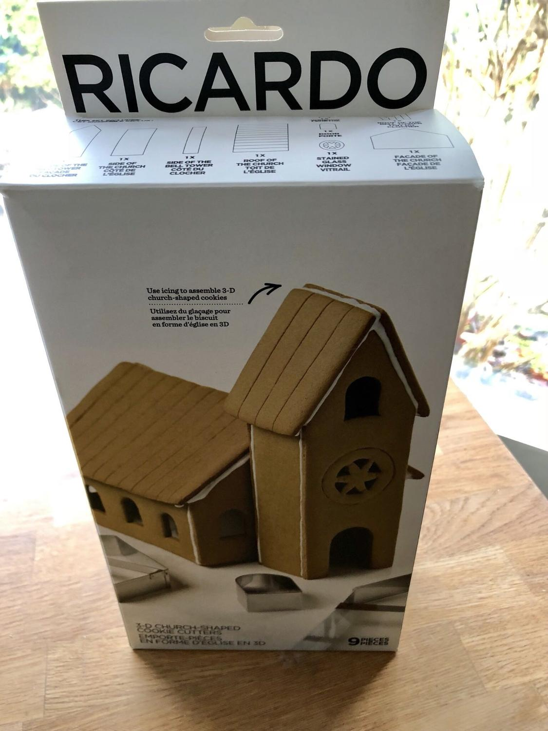 Bnib Giftable Ricardo Boutique 3d Cookie Cutter Set Reduced