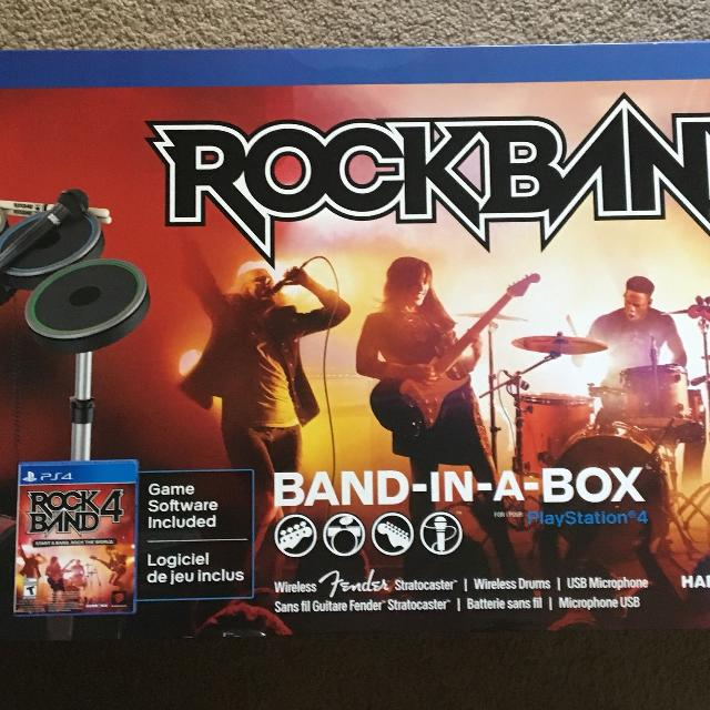 Find more Rock Band Band In A Box Bundle For Ps4 for sale at