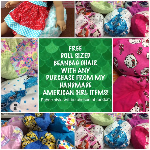 FREE With Purchase American Girl Doll Beanbag Chair