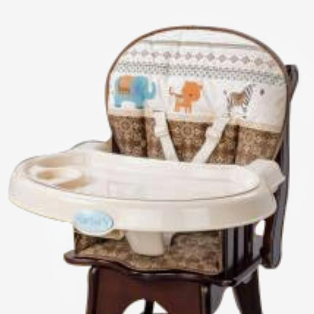 Carters Classic Comfort Reclining Wood High Chair By Summer Infant
