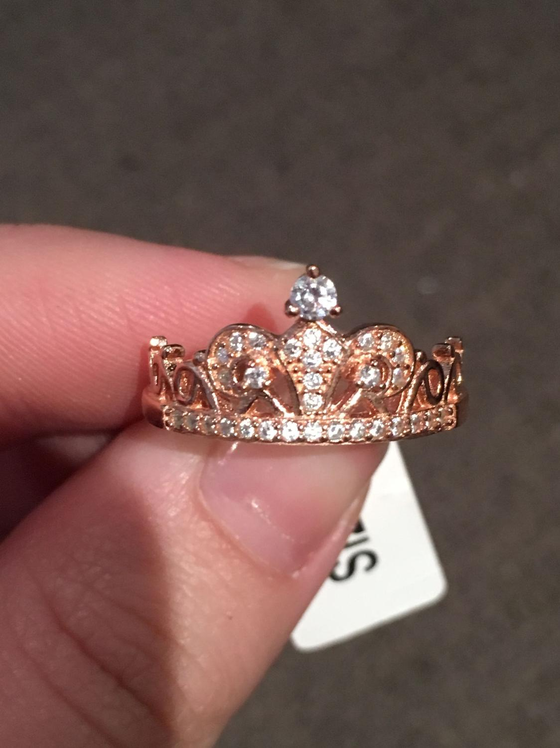 Find more Brand New Rose Gold Crown Charmed Aroma Ring for sale at ...