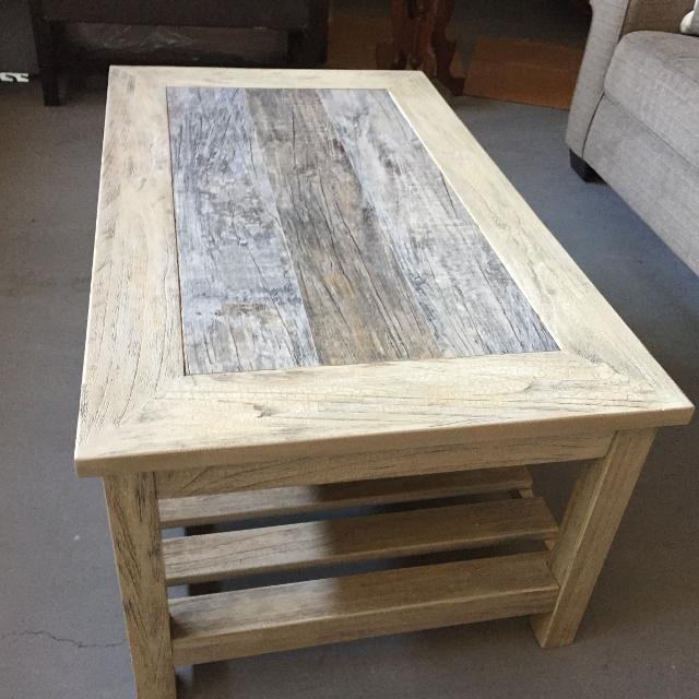 Farmhouse Style Coffee Table And End