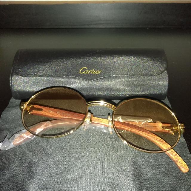 e40632a780dc Best Cartier Gold Frame Vintage Buffalo Horn Sunglasses for sale in Taylor