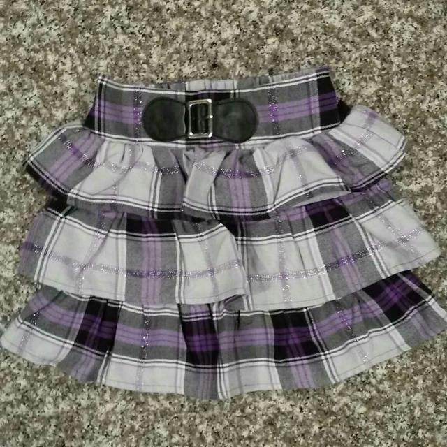 5e015451dd Find more Youngland, Purple Shimmery Plaid Skirt. Size 6. Euc. No ...